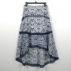 Anthropologie Foxiedox | Embroidered Skirt Boho